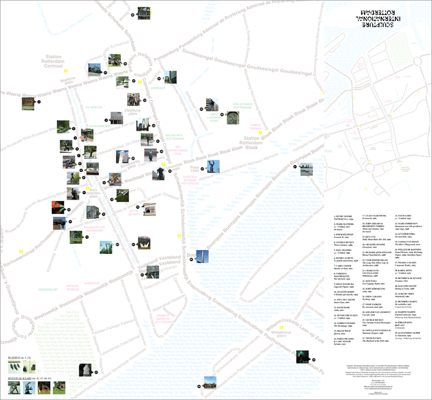 Sculpture International Rotterdam map | Lea Sormani